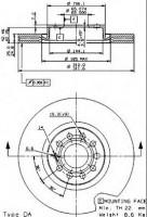 Фото 1 - Комплект тормозных дисков BREMBO 09.9772.11 (2 шт.)