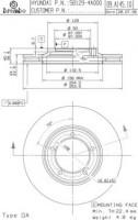 Комплект тормозных дисков BREMBO 09.A145.10 (2 шт.)