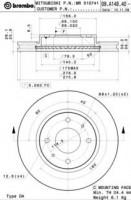 Комплект тормозных дисков BREMBO 09.A148.40 (2 шт.)