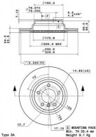 Комплект тормозных дисков BREMBO 09.A259.10 (2 шт.)