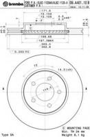 Комплект тормозных дисков BREMBO 09.A401.10 (2 шт.)