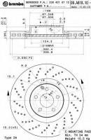 Комплект тормозных дисков BREMBO 09.A819.11 (2 шт.)