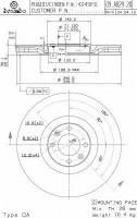 Комплект тормозных дисков BREMBO 09.A829.21 (2 шт.)