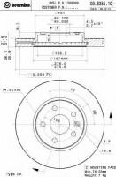 Комплект тормозных дисков BREMBO 09.B355.10 (2 шт.)