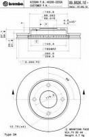 Комплект тормозных дисков BREMBO 09.B526.10 (2 шт.)