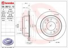 Комплект тормозных дисков BREMBO 09.B612.10 (2 шт.)