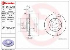 Комплект тормозных дисков BREMBO 09.C145.10 (2 шт.)