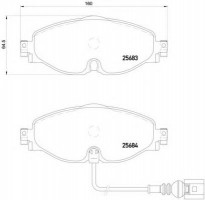 Тормозные колодки BREMBO P 85 126, дисковые