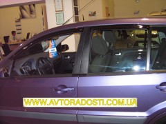 Дефлекторы окон для Ford Mondeo '07-14, седан, дымчатые, 2шт. (EGR)