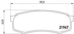 Тормозные колодки BREMBO P 83 024, дисковые