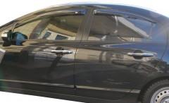 Дефлекторы окон для Honda Civic 4D '06-12 (EGR)