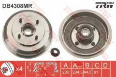 Тормозной барабан TRW DB4308MR