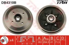 Тормозной барабан TRW DB4310B