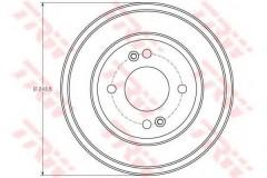 Тормозной барабан TRW DB4401