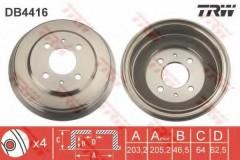 Тормозной барабан TRW DB4416