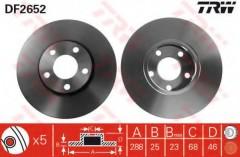 Комплект тормозных дисков TRW DF2652 (2 шт.)