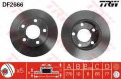 Комплект тормозных дисков TRW DF2666 (2 шт.)
