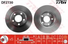 Комплект тормозных дисков TRW DF2730 (2 шт.)