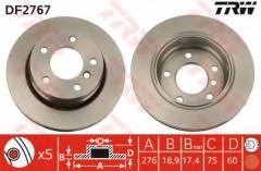 Комплект тормозных дисков TRW DF2767 (2 шт.)