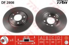 Комплект тормозных дисков TRW DF2808 (2 шт.)