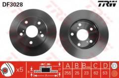 Комплект тормозных дисков TRW DF3028 (2 шт.)