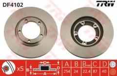 Комплект тормозных дисков TRW DF4102 (2 шт.)