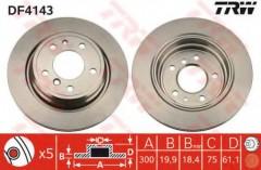 Комплект тормозных дисков TRW DF4143 (2 шт.)