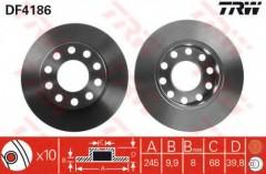 Комплект тормозных дисков TRW DF4186 (2 шт.)