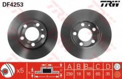 Комплект тормозных дисков TRW DF4253 (2 шт.)