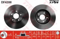 Комплект тормозных дисков TRW DF4288 (2 шт.)