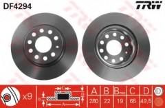Комплект тормозных дисков TRW DF4294 (2 шт.)