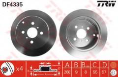Комплект тормозных дисков TRW DF4335 (2 шт.)