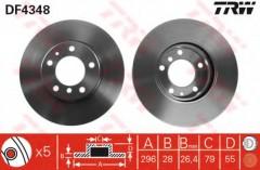 Комплект тормозных дисков TRW DF4348 (2 шт.)