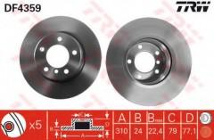 Комплект тормозных дисков TRW DF4359 (2 шт.)