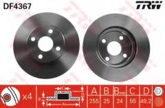 Комплект тормозных дисков TRW DF4367 (2 шт.)