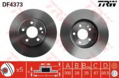 Фото 1 - Комплект тормозных дисков TRW DF4373 (2 шт.)