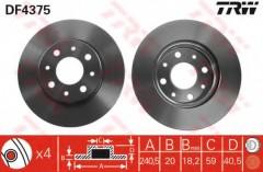 Комплект тормозных дисков TRW DF4375 (2 шт.)