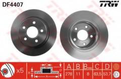 Комплект тормозных дисков TRW DF4407 (2 шт.)