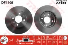 Комплект тормозных дисков TRW DF4409 (2 шт.)