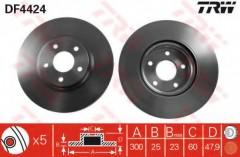 Комплект тормозных дисков TRW DF4424 (2 шт.)
