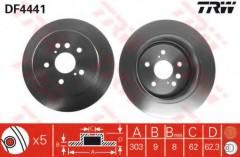 Комплект тормозных дисков TRW DF4441 (2 шт.)