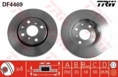 Комплект тормозных дисков TRW DF4469 (2 шт.)