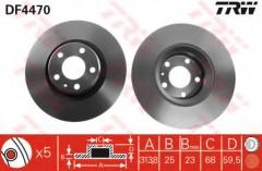 Комплект тормозных дисков TRW DF4470 (2 шт.)