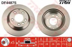 Комплект тормозных дисков TRW DF4487S (2 шт.)