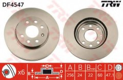 Комплект тормозных дисков TRW DF4547 (2 шт.)