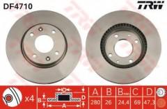 Комплект тормозных дисков TRW DF4710 (2 шт.)