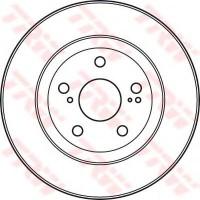Фото 2 - Комплект тормозных дисков TRW DF4828S (2 шт.)