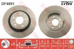 Комплект тормозных дисков TRW DF4891 (2 шт.)