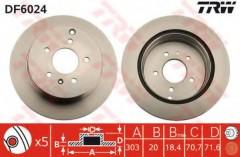 Комплект тормозных дисков TRW DF6024 (2 шт.)
