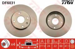 Комплект тормозных дисков TRW DF6031 (2 шт.)